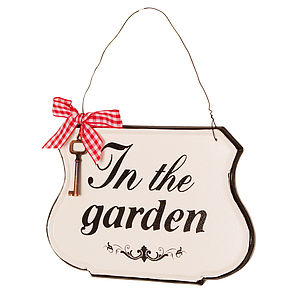 'In The Garden' Plaque