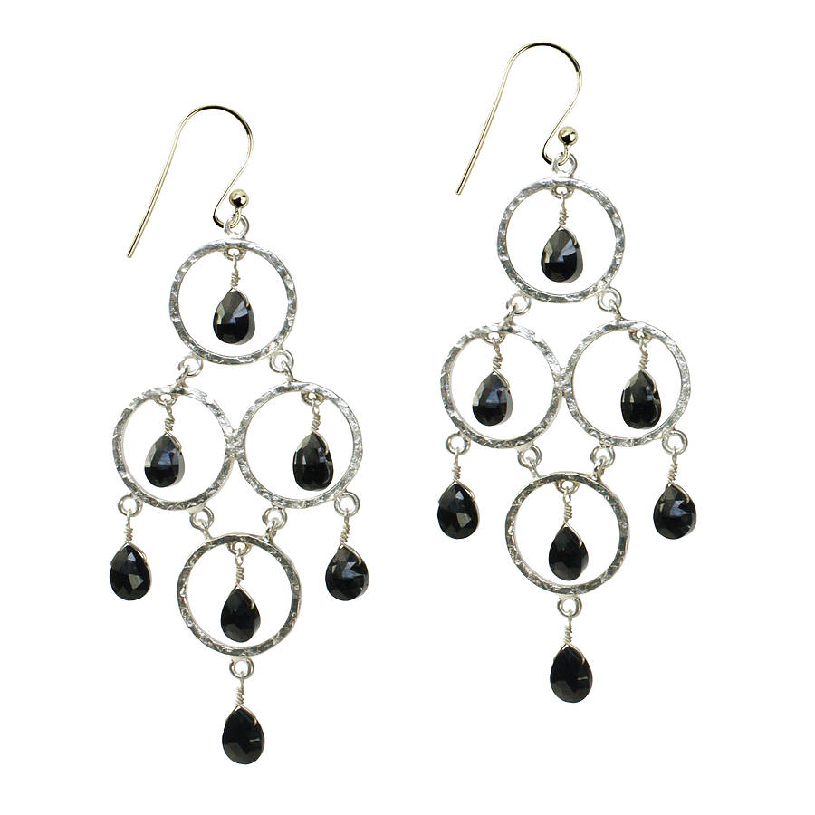 9430794fd cosima earrings oxidised silver and black onyx by flora bee ...