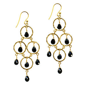 Cosima Earrings Gold And Black Onyx