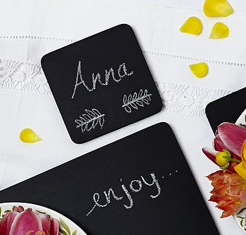 Chalkboard Coaster and Placemats