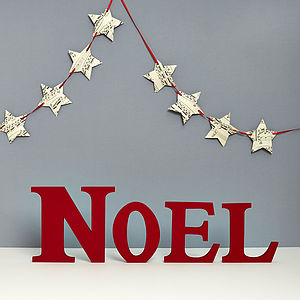 Handmade 'Noel' Letters - outdoor decorations