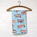 Boat Nostalgia tea towel in blue
