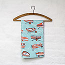 Boat Nostalgia tea towel in peppermint