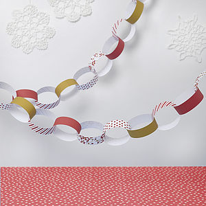 Red Christmas Paper Chain Kit - christmas eve