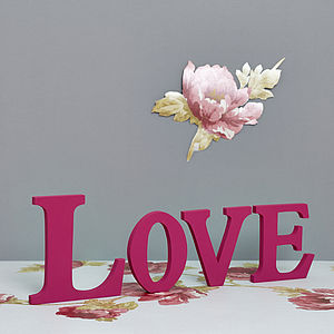 Handmade Freestanding 'Love' Letters - room decorations