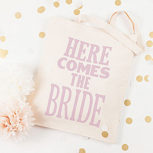 'Here Comes The Bride' Tote Bag - wedding fashion
