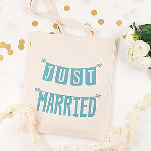 'Just Married' Tote Bag - honeymoon accessories