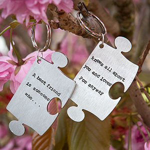 'Best Friend' Personalised Key Ring - for her