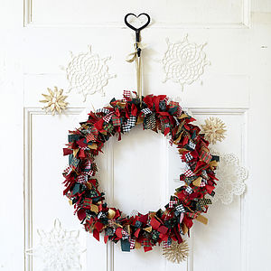 Fabric Christmas Wreath - wreaths