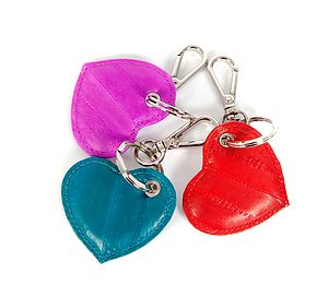 Handmade Ethical Love Heart Key Ring - keyrings