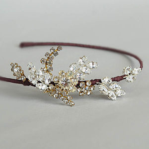 Georgette Bridal Headdress - hats, hairpieces & hair clips