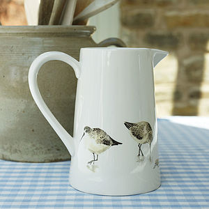 Large Sandpiper Jug - crockery & chinaware