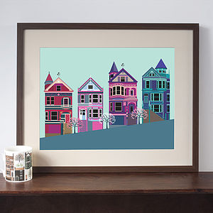 San Francisco Painted Ladies Print