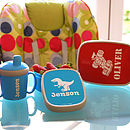 Personalised lunch box and drinks bottles