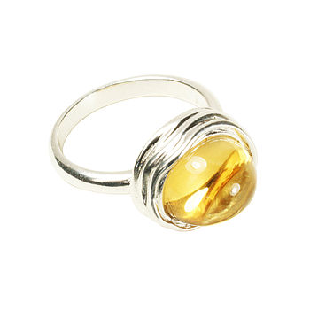 Dina Ring Silver And Citrine