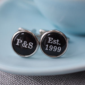 Personalised Est. Cufflinks - cufflinks