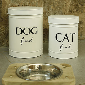 Dog Or Cat Food Tin - stylish pet accessories for the home