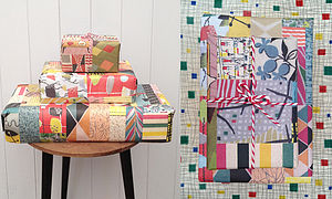1950s Retro Wrapping Paper Two Sheets