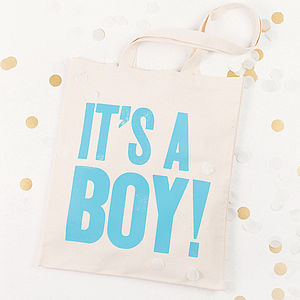 'It's A Boy!' Tote Bag - baby care