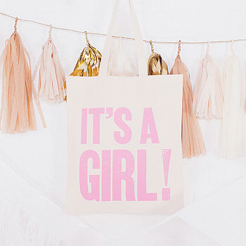 'It's A Girl!' Tote Bag