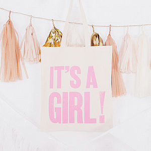 'It's A Girl!' Tote Bag - shopper bags