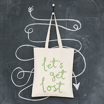 'Let's Get Lost' Tote Bag