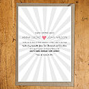 Starburst Pink Invitation