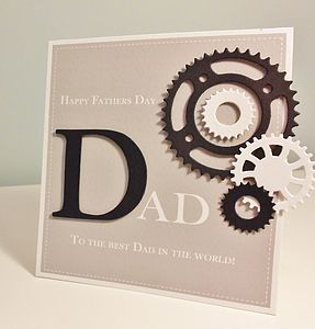 Handmade Cogs And Sprockets Father's Day Card