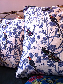 Summer Bird Cushion