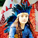 Feather Headdress Blue