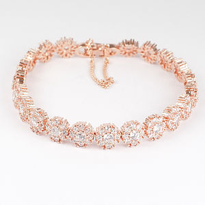 Rose Gold Diamante Bracelet - women's jewellery