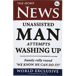 News Man Linen Tea Towel - view all father's day gifts
