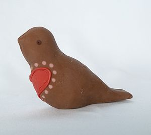 Milk Chocolate Love Bird - edible favours