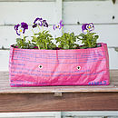 Fairtrade Recycled Rice Bag Window Box