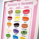 Macaroon Flavours Kitchen Tea Towel