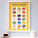 Macaroon Flavours Kitchen Tea Towel