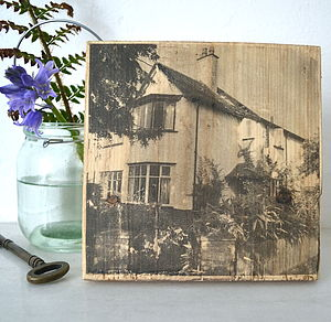 House Portrait On Wood - home accessories