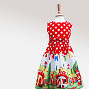 Girl's Gnome Print Party Dress