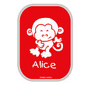 Red lunchbox / Monkey / Kids Font