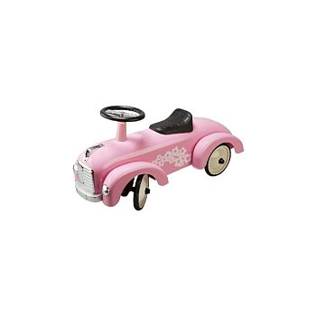 Pink Retro Ride On Racing Car