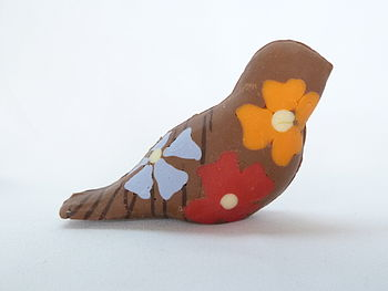Tropical Flower Chocolate Bird