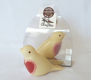 White Chocolate Love Bird - wedding favours