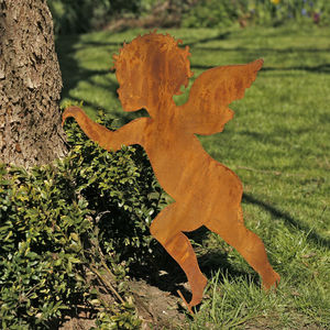 Winged Cherub Garden Decoration - art & decorations