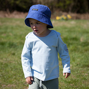Baby's Organic Long Sleeve Tee In Sky Blue - view all sale items