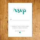 Paisley Lace Teal RSVP