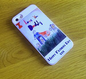 Personalised Child's Drawing Phone Case - for him