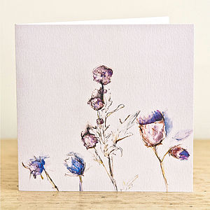 Thistles Greetings Card