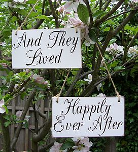 'Happily Ever After' Handmade Wedding Signs - room decorations