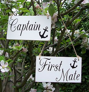 'Captain & First Mate' Nautical Wedding Signs