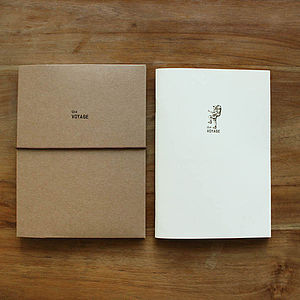 'The Voyage' Eco Travel File And Notebook - travel journals & diaries
